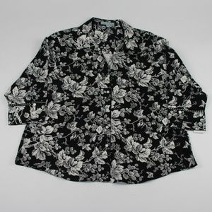 FoxCroft Wrinkle Free Shaped Fit Floral Shirt